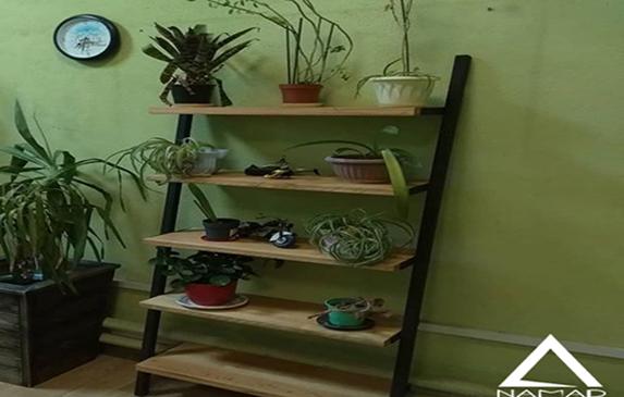 ایده هایی برای ساخت استند گلدان چوبی